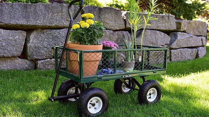 Gorilla Carts 400 Pound Garden Cart   $65   Amazon