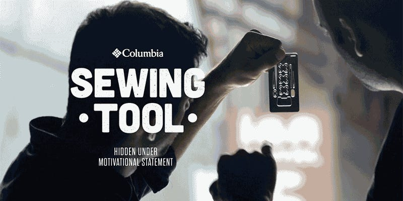 Columbia Turned Its Clothing Labels Into Stainless Steel Survival Tools