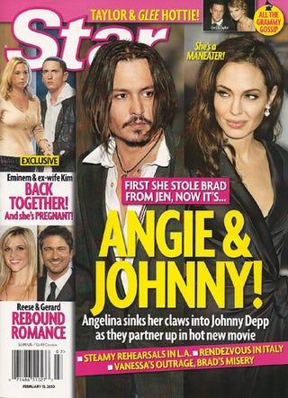 """Illustration for article titled This Week In Tabloids: Angie Has """"Claws"""" In Johnny; Taylor Swift Sleeps In Mayer's Suite"""