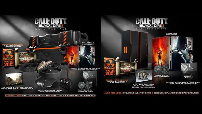 Illustration for article titled Black Ops II Hardened and Care Package Editions Offer Compelling Arguments for Spending More Money [Update]