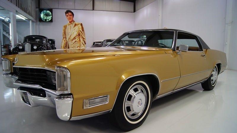 Image result for gold car elvis