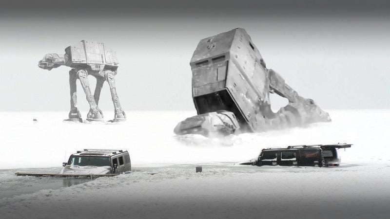 Illustration for article titled Hilarious Hungarian Ice Hummers On Hoth