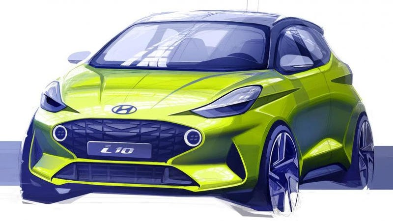 Illustration for article titled The New 2020 Hyundai i10 Teaser Hints At One Hell Of A Badass Little Car