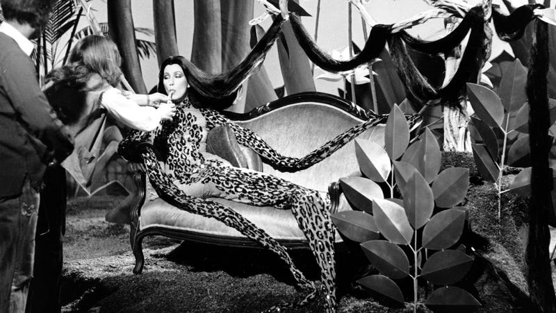 Illustration for article titled Cher Got A 1979 Emmy Nomination For Dressing Like a Glamazon Leopard