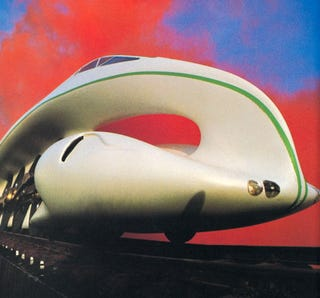 Illustration for article titled A Soviet Steam Train That Looks Like a Moebius Strip