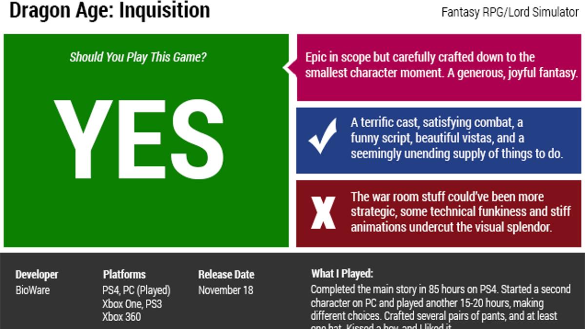 Dragon Age: Inquisition: The Kotaku Review