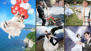 Illustration for article titled Insane Russian Wedding Photos Are The Best Kind Of Wedding Photos