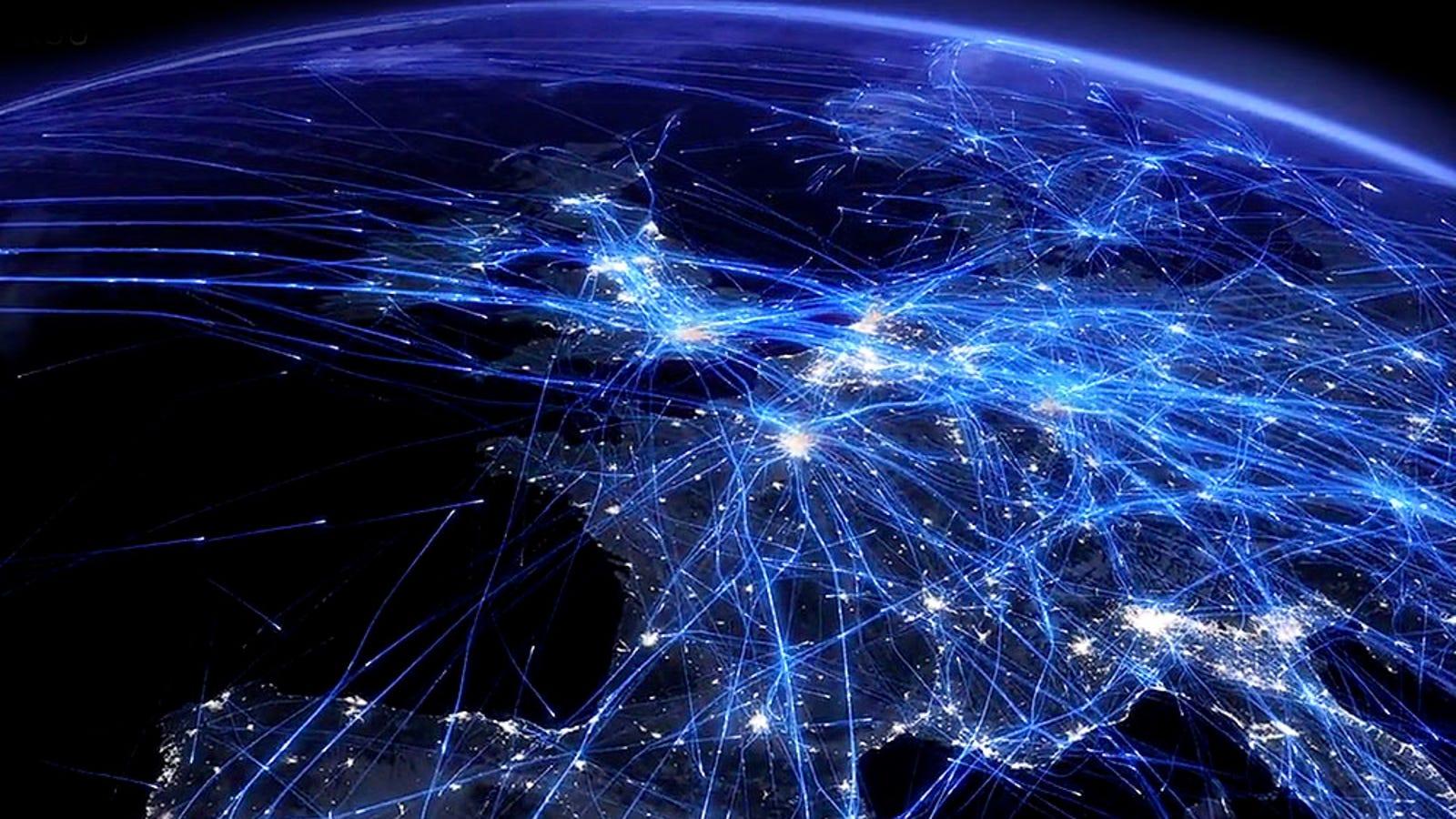 Así se ve un día de tráfico aéreo sobre Europa