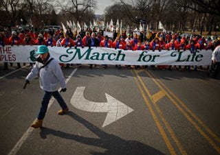 Anti-abortion protest (Getty Images)