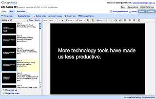 Illustration for article titled Google Docs Adds Presentations