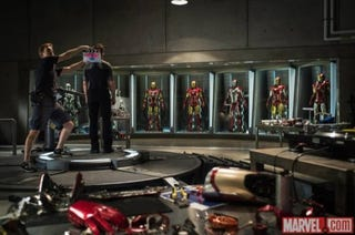 Illustration for article titled First official picture from the set of Iron Man 3