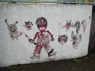 Illustration for article titled Demented-Looking Pokemon Schoolyard Graffiti