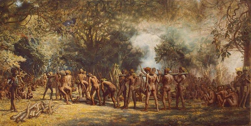 Festival caníbal en Tanna. Wikimedia Commons