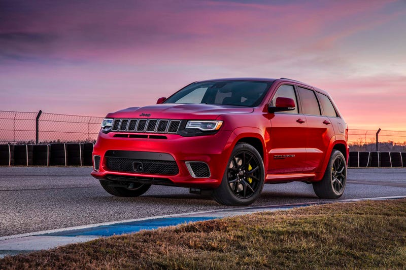 Illustration for article titled 2018 Jeep Grand Cherokee Trackhawk Starts at $86,995