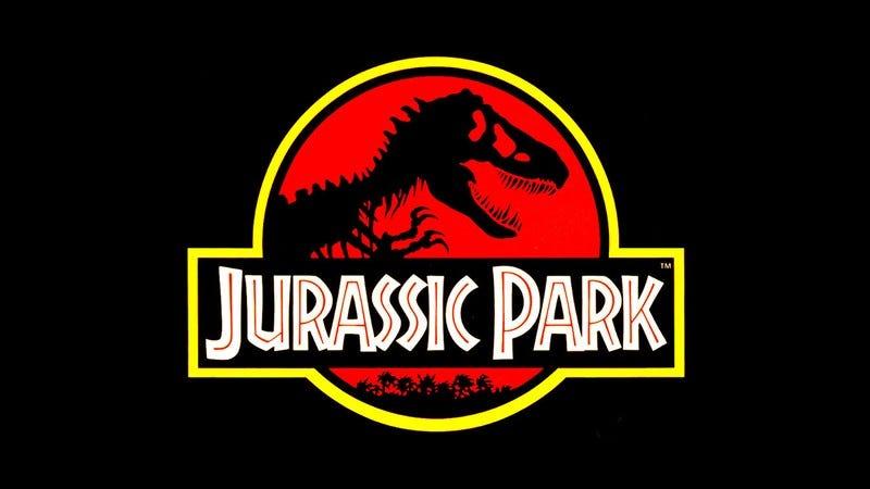 The Jurassic Park logo.