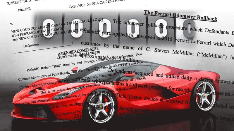 Class Action Suit Accuses Ferrari Of Rolling Back Odometers