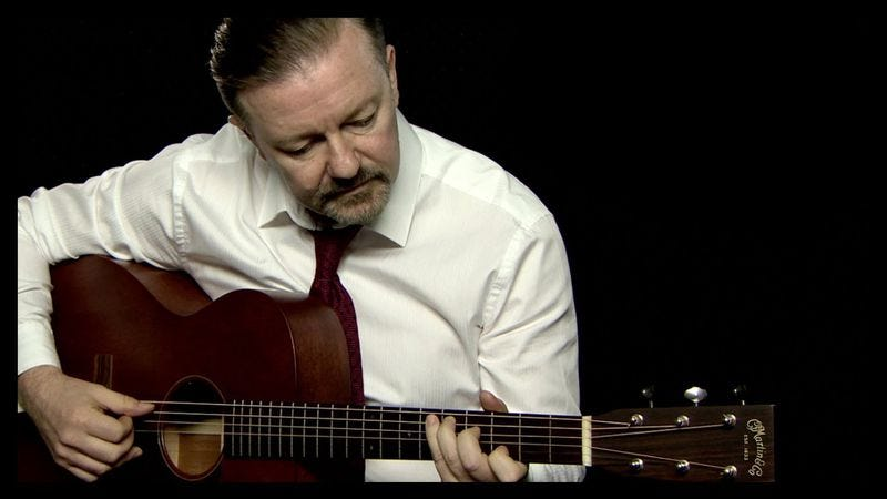 Illustration for article titled Ricky Gervais released a reasonably funny new David Brent song