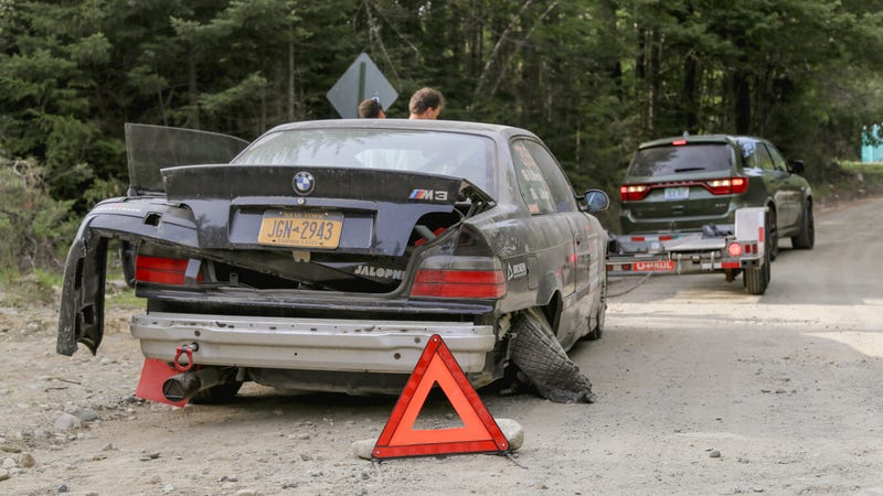 Illustration for article titled I Crashed My BMW M3 Rally Car