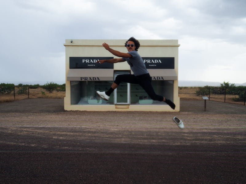Illustration for article titled JUMPING IN MARFA