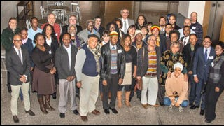 """Attendees of the """"Afrodescendants: 15 Years After Santiago. Achievements and Challenges"""" symposium at Harvard University's Hutchins Center, Dec. 4-5, 2015Marcus Halevi"""