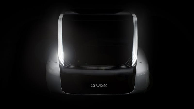 A rendering of the autonomous vehicle.