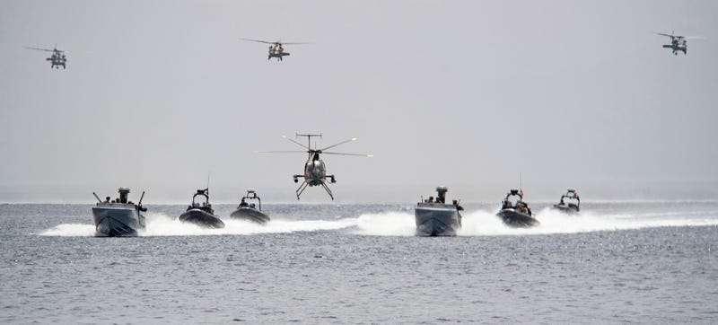 Illustration for article titled Check Out These Sweet Maritime Warfare Shots From Exercise Eager Lion
