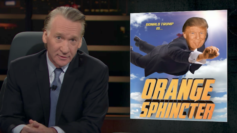 Resultado de imagem para Bill Maher Blames Superhero Movies And TV Shows For Trump Presidency