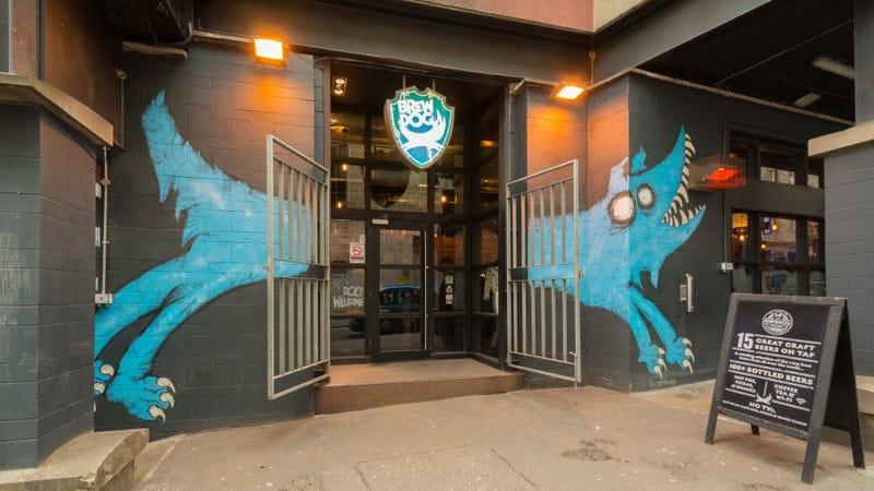 The entrance to Brewdog's Edinburgh craft beer bar