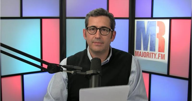 Sam Seder hosting his podcast, The Majority Report (Screenshot)