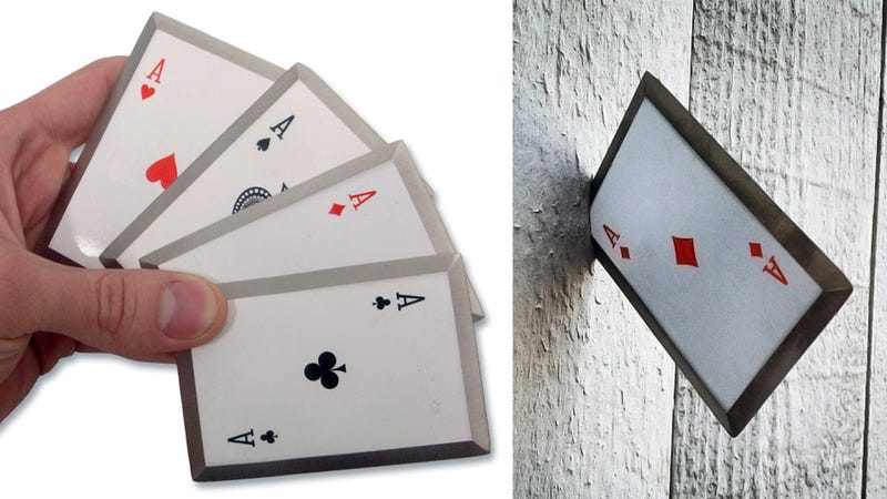 Illustration for article titled Live Out Your Gambit Fantasies With a Set of Sharpened Steel Throwing Cards