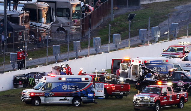 The crash that caused Kyle Busch's injuries