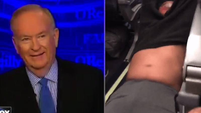Illustration for article titled Bill O'Reilly has hearty chuckle over bloodied United passenger