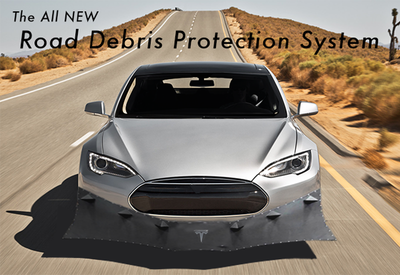 Illustration for article titled Introducing the new ALL NEW Model S Road Debris Protection System