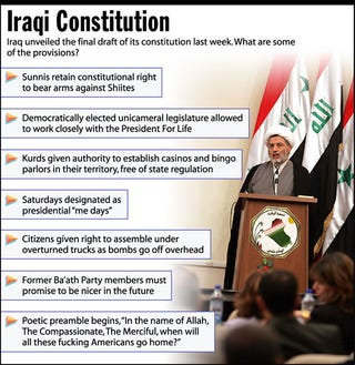 Illustration for article titled Iraqi Constitution