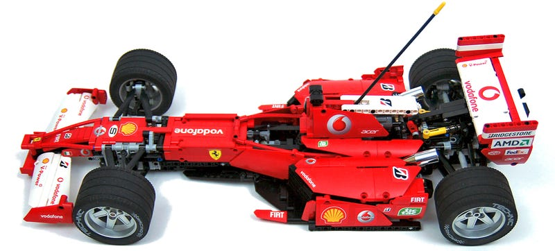 Lego master builder sariel admits to not being much of a formula 1 fan but you wouldnt know it looking at his replica of the ferrari 248 f1 car that