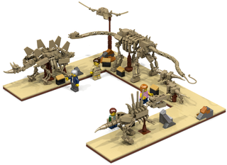 Illustration for article titled Lego Dinosaur Fossil Museum