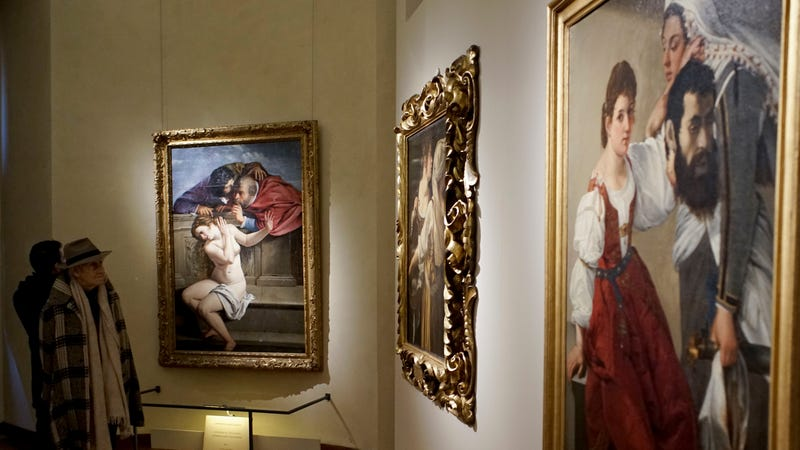 From 'Artemisia Gentileschi and her Times' exhibit in Rome, 2017 / Image via AP