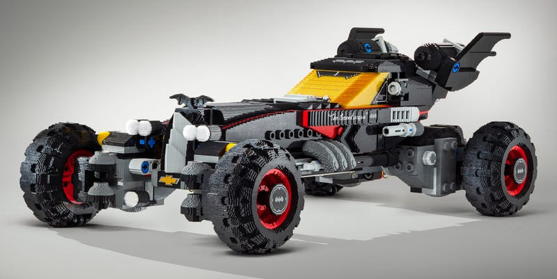 Illustration for article titled We'd Like This Life-Sized Version of Lego Batman's Batmobile to Be an Official Set Immediately, Please