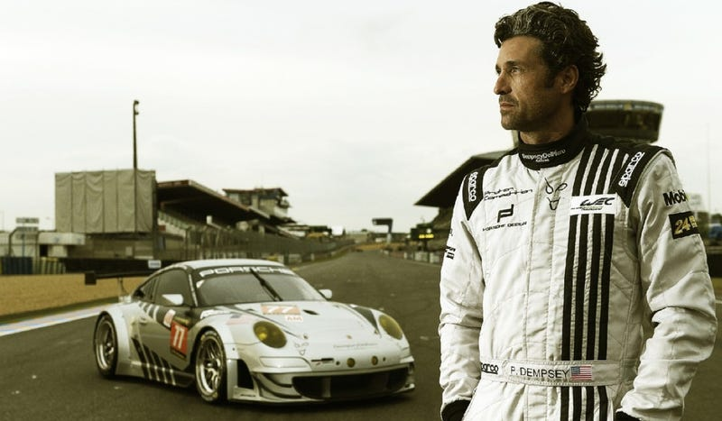 Illustration for article titled Ask actor Patrick Dempsey all about racing his Porsche at Le Mans