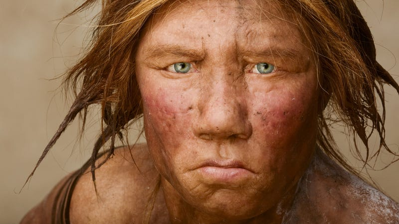 Depiction of a Neanderthal woman. (Photo: Joe McNally/National Geographic)