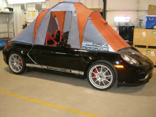 Illustration for article titled Proof You Can Go Camping In A Porsche Boxster Spyder