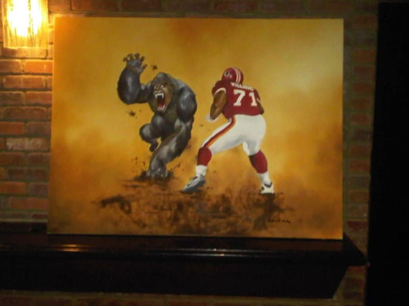 """Illustration for article titled Here's The Rest Of Trent """"Silverback"""" Williams's Gorilla-Themed Basement"""