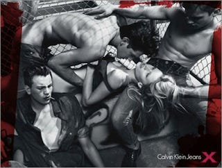 """Illustration for article titled Calvin Klein Billboard Banned For Suggesting """"Violence And Rape"""""""