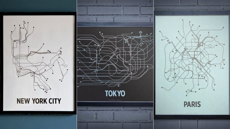 Illustration for article titled Stylized Transit Maps Are a Lovely Way to Rep Your Favorite City