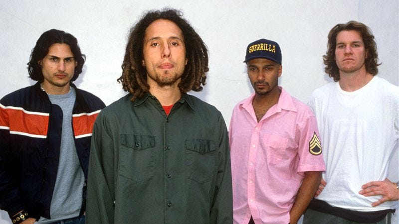 Rage Against The Machine in 1999 (Photo: Brian Rasic/Getty Images)