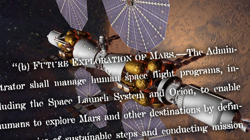 Illustration for article titled Congress Just Mandated A Human Mission To Mars