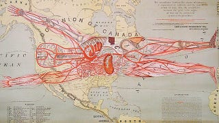 Illustration for article titled This is maybe the weirdest map of North America ever printed