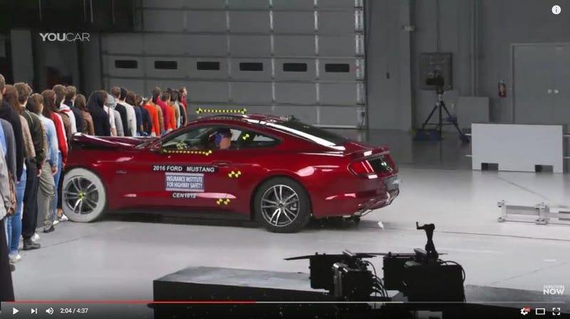 Illustration for article titled New Mustang Crash Tests