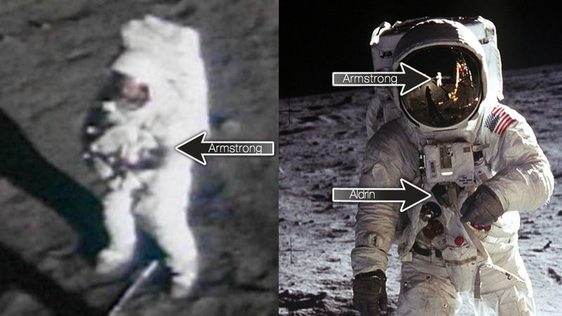 Illustration for article titled Why it's so hard to find photos of Neil Armstrong on the Moon