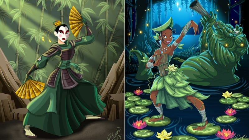 Illustration for article titled Disney Princesses Gloriously Reimagined as Avatar Characters